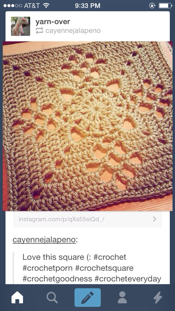 Free Crochet Square Pattern Crafter Mystery Cypresstextiles