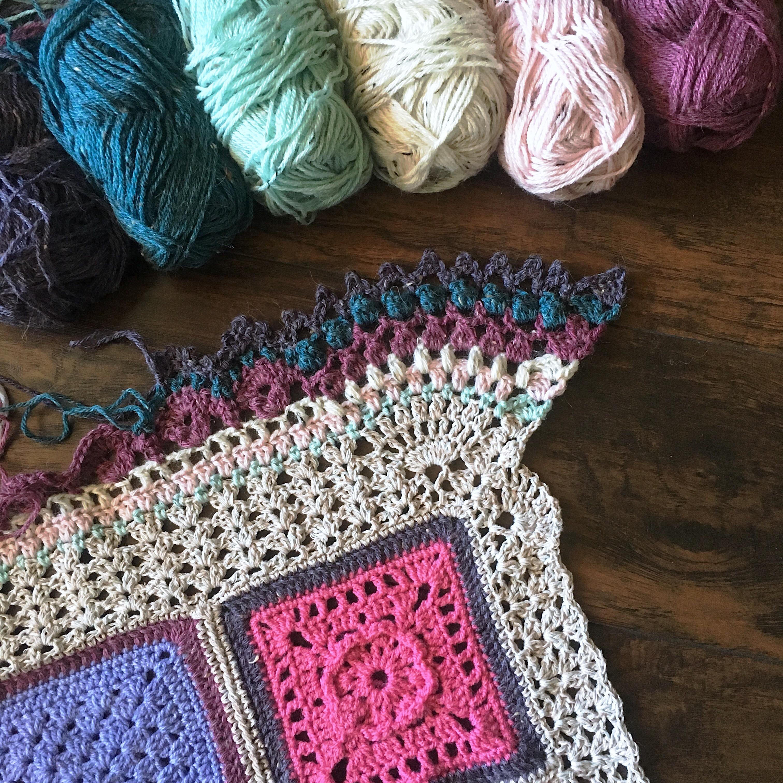 Free Crochet Pattern Blanket Border 2016 Vibrant Vintage Blanket