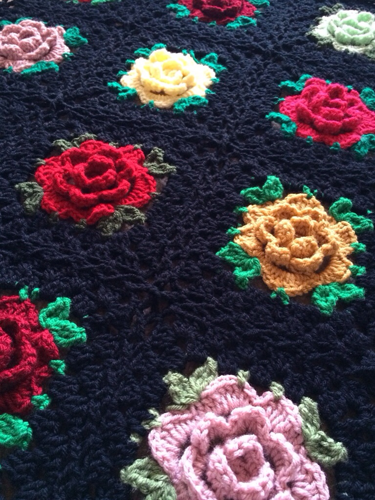 English Rose Granny Square Free Pattern Cypresstextiles