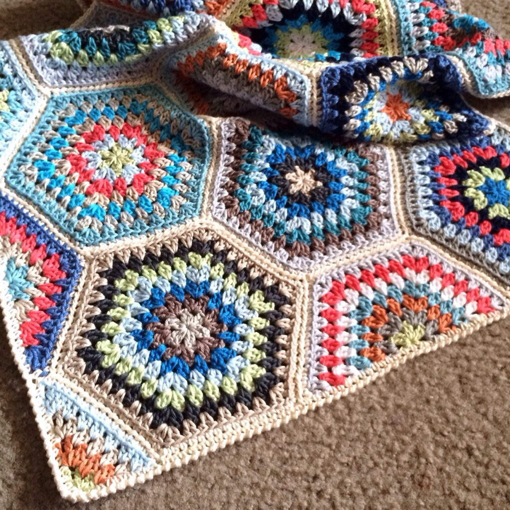 Crochet Blanket Painted Hexagons Pattern Cypress Textiles