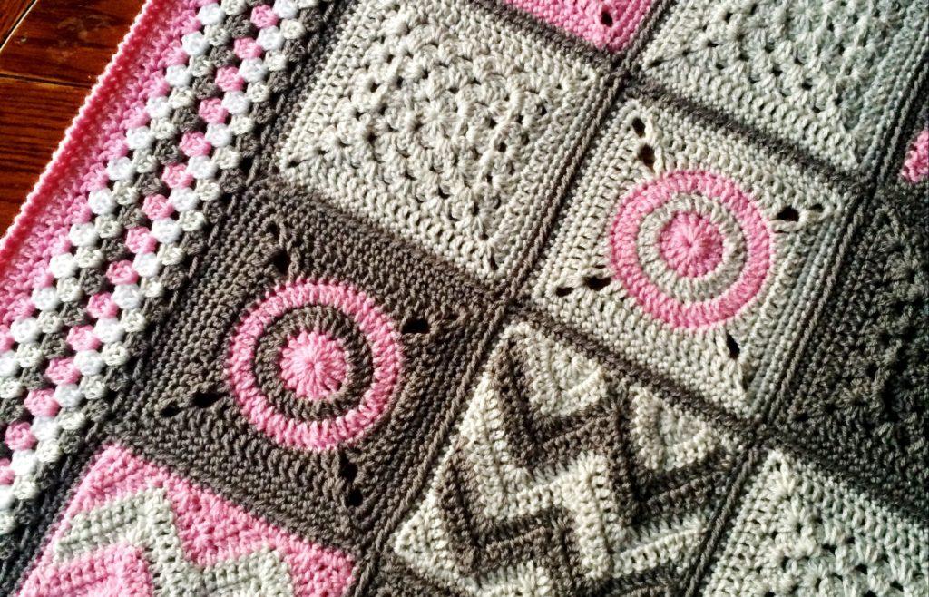 Crochet Baby Blanket Pattern Modern Patchwork Cypress
