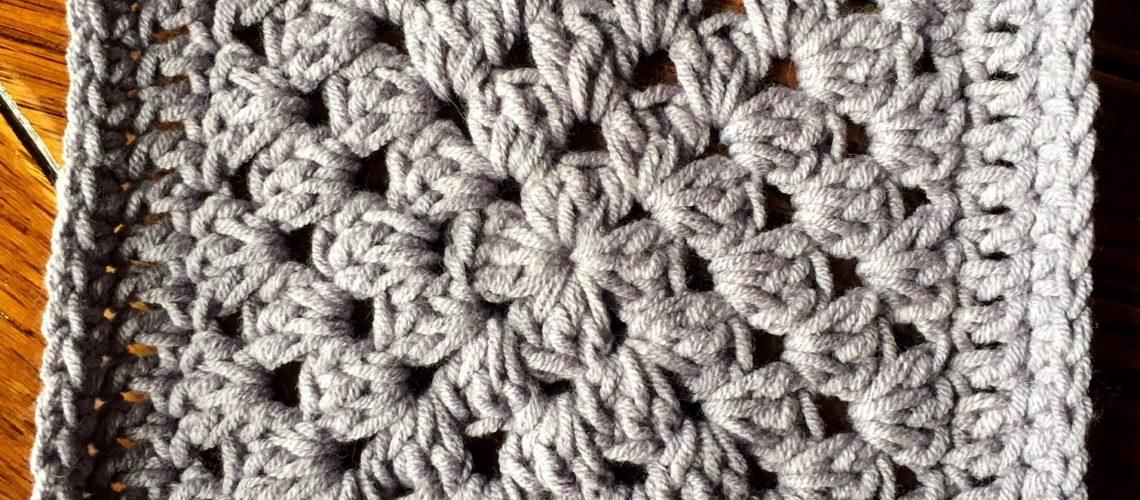 Crochet Motif Plain Granny Square Cypresstextiles