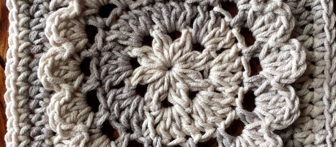 Crochet Motif Redbud Square Cypresstextiles