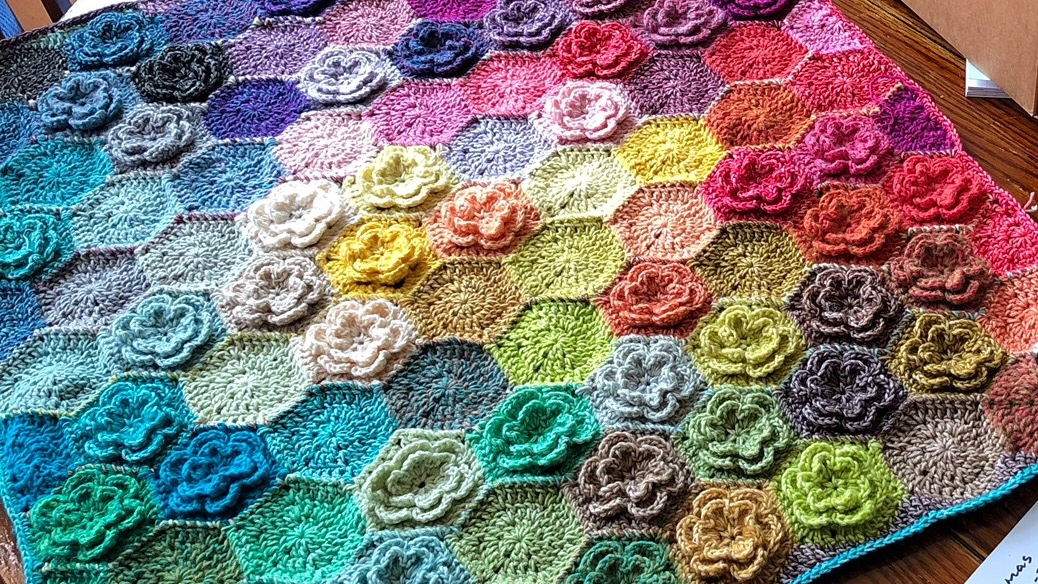 Relaxghan No 6 Happy Little Tree Crochet Blanket For Absolute