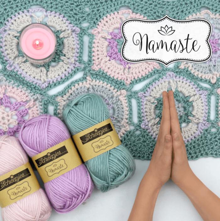 Scheepjes Namaste Yarn Plus Free Shavasana Hexagon Motif Crochet