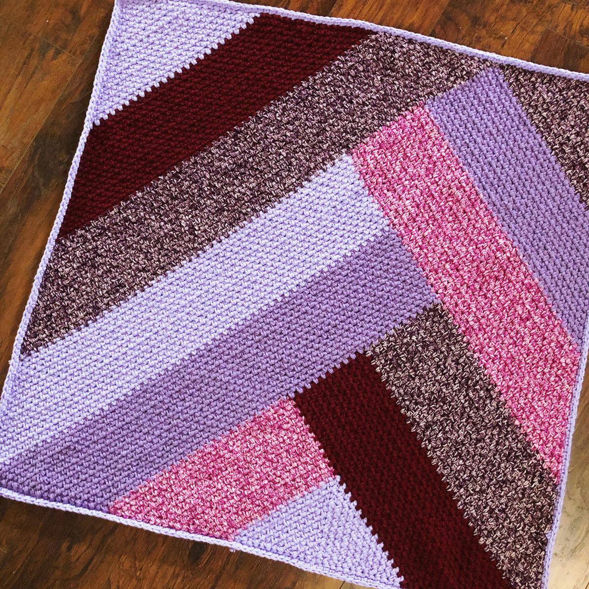 French Braid Blanket Mega Version Free Crochet Blanket Pattern Cypress Textiles